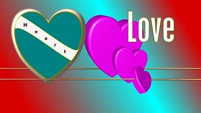 Hearts Desktop Wallpaper Original by Lorenzo Woodard