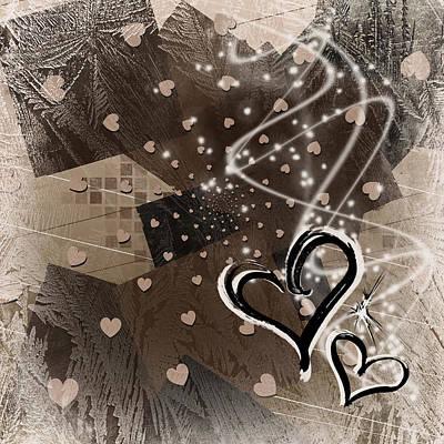 Hearts For Hearts 16 Art Print by Melissa Smith