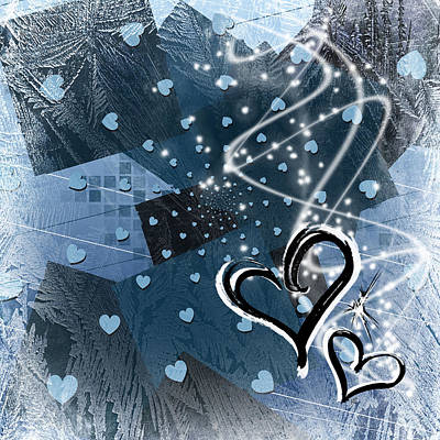 Abstract Digital Art - Hearts For Hearts 17 by Melissa Smith