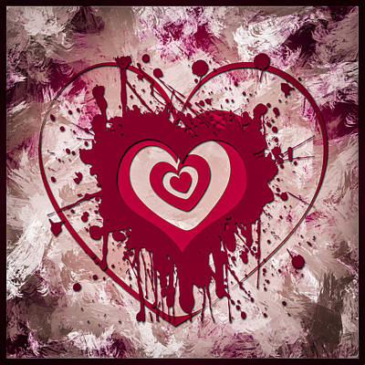 Artwork Digital Art - Hearts For Hearts 6 by Melissa Smith