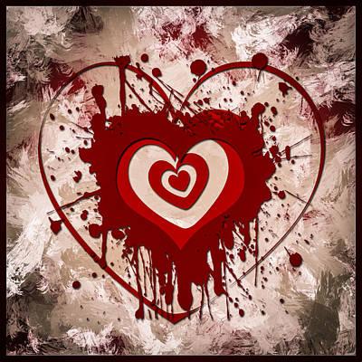 Hearts For Hearts 5 Art Print by Melissa Smith