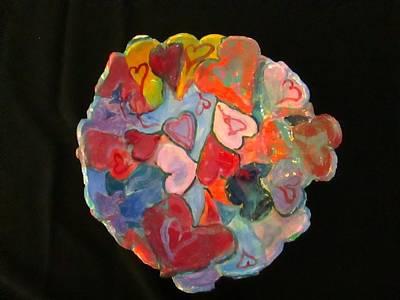 Hearts Hand Built Art Print by Martha Nelson