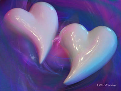 Bonding Mixed Media - Hearts In A Vortex by Elizabeth S Zulauf