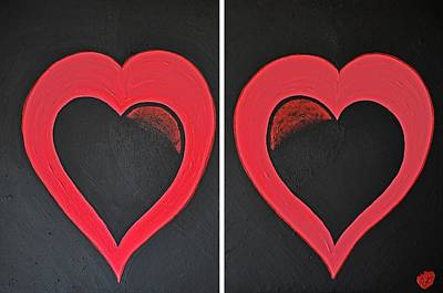 Painting - Hearts by J Anthony