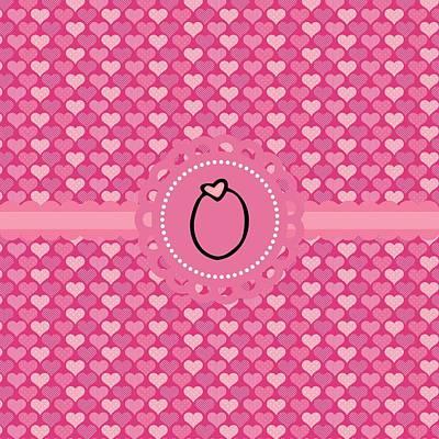 Valentines Day Digital Art - Hearts Memories Monogram O by Debra  Miller