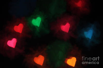 Heart-shaped Lights Photograph - Hearts Of Color by Darren Fisher