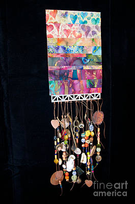 Tapestry - Textile - Hearts Of Color by Vinnie Oakes