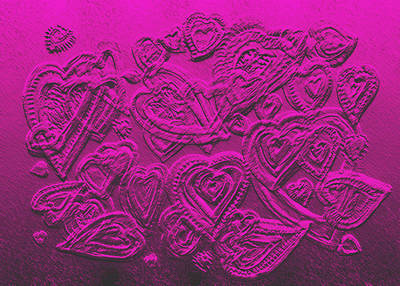 Hearts Of Love Art Print