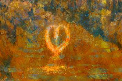Burning Heart Wall Art - Painting - Hearts On Fire by Dan Sproul
