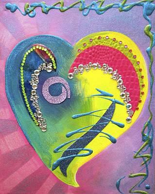 Rhinestone Painting - Heartworks by Debi Starr