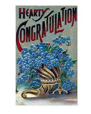 Hearty Painting - Hearty Congratulation by Olde Time  Mercantile