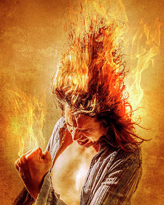 Burning Man Photograph - Heat Miser by Steve Augulis