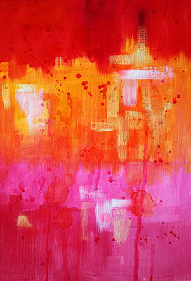 Shimmering Painting - Heat by Nancy Merkle
