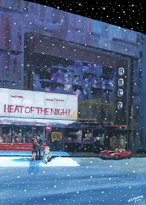 Scooter Painting - Heat Of The Night by Andrew Roy Thackeray