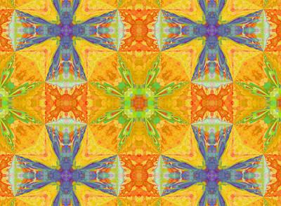 Graphic Design Mixed Media - Heat Wave Abstract Design by Georgiana Romanovna