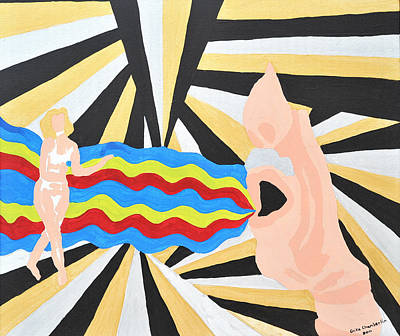 Art Print featuring the painting Heated by Erika Chamberlin