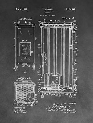 Drawing - Heater Patent by Dan Sproul