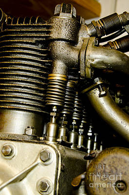 Photograph - Heath-henderson Motorcycle Engine by Wilma  Birdwell