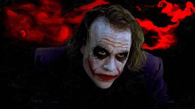 Heath Ledger Mixed Media - Heath Ledger As Joker by Image World