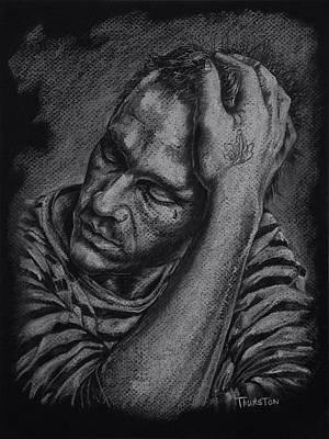 Heath Ledger Drawing - Heath Ledger by Denise Thurston