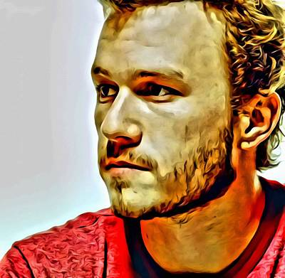 Heath Ledger Wall Art - Painting - Heath Ledger Portrait by Florian Rodarte
