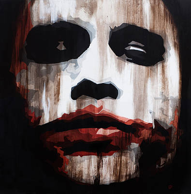 Heath Ledger Wall Art - Painting - Heath Ledger Why So Serious by Brad Jensen