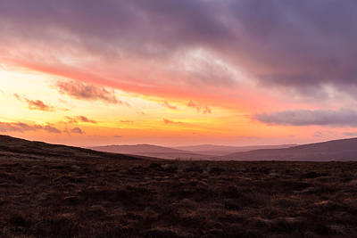 Photograph - Heathlands At Dusk In Wicklow Mountains by Semmick Photo