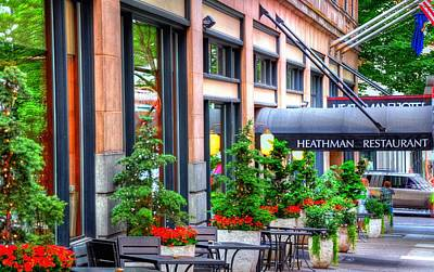 Jerry Sodorff Royalty-Free and Rights-Managed Images - Heathman Restaurant 17368 by Jerry Sodorff