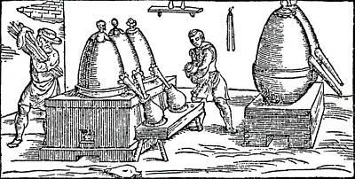 Heating And Distilling Mercury Art Print