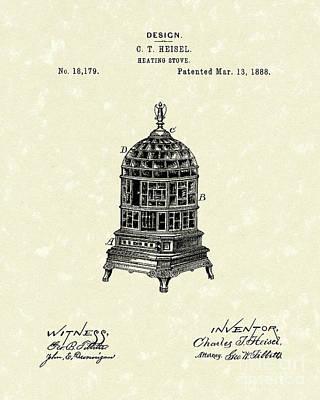 Heating Stove 1888 Patent Art Print by Prior Art Design
