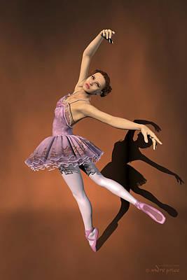 Heaven - Ballerina Portrait Art Print by Alfred Price