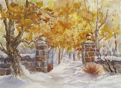 Winter Shadows Painting - Heaven Beyond by Mohamed Hirji