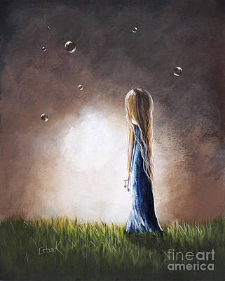 Mystical Landscape Painting - Heaven Heard Her Prayers Tonight By Shawna Erback by Shawna Erback
