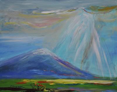 Mount Hood Painting - Heaven In Oregon Mt. Hood Oregon by Patricia Kimsey Bollinger