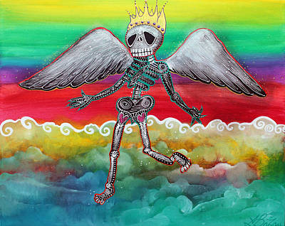 Folk Painting - Heaven Is For Real by Laura Barbosa
