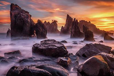 Golden Skies Photograph - Heaven Of Rocks by Gunarto Song