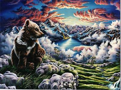Bear Painting - Heaven On Earth by Lori Salisbury