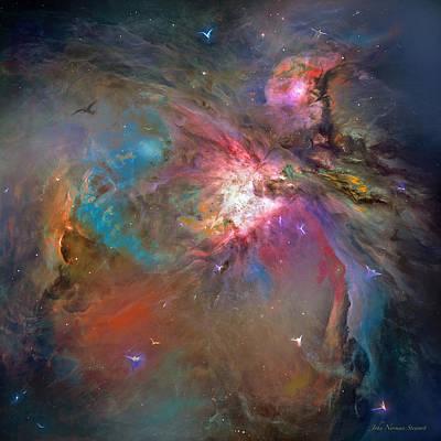 Digital Art - Heavenly Activity  by John Norman Stewart