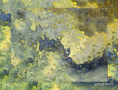 Heavenly Clouds Abstract Art Print by Debbie Portwood