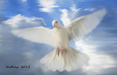 Painting - Heavenly Dove by Bruce Nutting