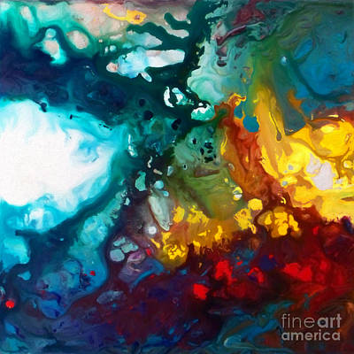Painting - Heavenly Fire Canvas Two by Sally Trace