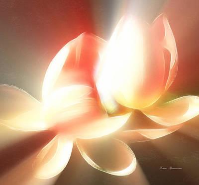 Lilies Mixed Media - Heavenly Lilies by Georgiana Romanovna