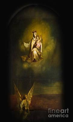 Studio Murals Photograph - Heavenly Madonna And Child by Al Bourassa