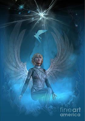 Heavenly Messenger Art Print by Shadowlea Is