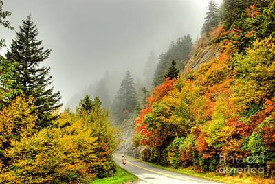 Photograph - Heavenly Ride I - Blue Ridge Parkway by Dan Carmichael