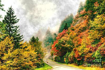 Painting - Heavenly Ride II - Blue Ridge Parkway by Dan Carmichael