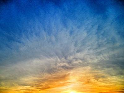 Meshed Photograph - Heavenly Skies by Constance Carlsen