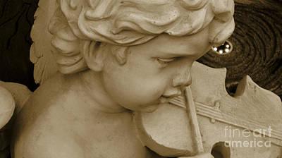 Heavenly Violine Art Print by Susanne Van Hulst