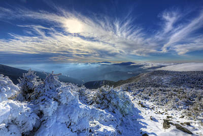 Photograph - Heavenly Winter Glow by Chris Whiton