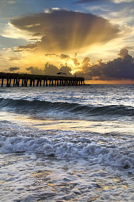 Florida Bridge Photograph - Heaven's Door Is Open by Debra and Dave Vanderlaan